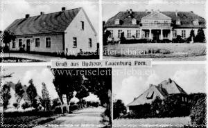 Die Geschichte bis 1911  Bychow, ein Gutsbezirk von 742 Hektar mit 149 Einwohnern im Amtsbezirke Gnewin. Der Bychow Bach hat sowohl der Ortschaft als einer hier lange Zeit ansässigen Adelsfamilie den Namen gegeben. Schon im Jahre 1377 am 24. November ist ein Reczke von Bychow Schiedsmann in einem Streite. Um das Jahr 1400 tritt ein Andus von Sychow auf, welcher für die Gebrüder Prebando Bürgschaft leistet ( Kopenhagener Wachstafeln). Im Jahre 1437 wird Bychaw als ein Lehngut zu polnischem Rechte bezeichnet, wahrend